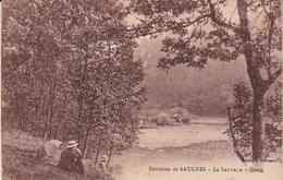 """1925  Environs De Longwy - Saulnes Lasauvage  """" L'Etang  """"   Animation - Longwy"""