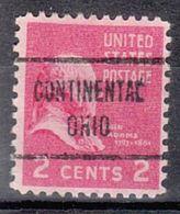 USA Precancel Vorausentwertung Preo, Locals Ohio, Continental 722 - Vereinigte Staaten