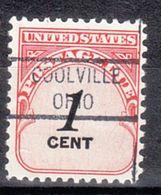 USA Precancel Vorausentwertung Preo, Locals Ohio, Coolville 821 - Vereinigte Staaten