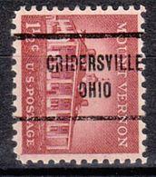USA Precancel Vorausentwertung Preo, Locals Ohio, Cridersville 713 - Vereinigte Staaten