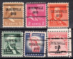 USA Precancel Vorausentwertung Preo, Locals Ohio, Cridersville 713, 6 Diff. - Vereinigte Staaten