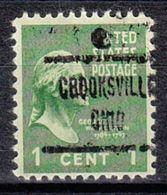USA Precancel Vorausentwertung Preo, Locals Ohio, Crooksville 723 - Vereinigte Staaten