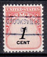 USA Precancel Vorausentwertung Preo, Locals Ohio, Crooksville 841 - Vereinigte Staaten