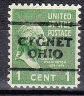 USA Precancel Vorausentwertung Preo, Locals Ohio, Cygnet 701 - Vereinigte Staaten