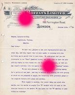 LONDON 1908 Lampe éclairage Moffat's Limited - Royaume-Uni