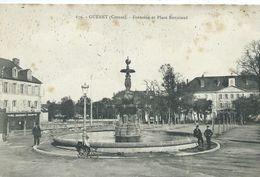 23,Creuse,GUERET, Fontaine Et Place Bonniaud,animations, Scan Recto-Verso - Guéret