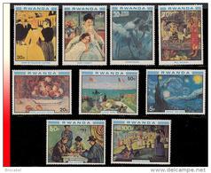 """Rwanda 0994/1002**  Art De La Peinture """"Les Impressionnistes""""   MNH - 1980-89: Neufs"""