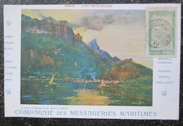 Seychelles Mahé Cpa Messageries Maritimes Timbrée Madagascar - Seychelles