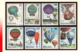Rwanda 1202/09** Premier Vol En Ballon  MNH - 1980-89: Neufs