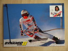 CAROLE MERLE  PUBLICITE  PUB  SKIS DYNAMIC - Sports D'hiver