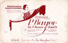 P. Bayer La Chaux-de-Fond - Teinturerie Lavage Chimique - Dépôt Le Locle - Neuchâtel - Suisse / Buvard / 21 X 13,5 Cm - H