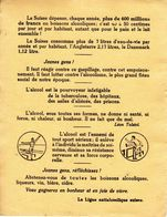 Buvard De La Ligue Antialcoolique Suisse - Alcool - Prévention - 17 X 22 Cm - Buvards, Protège-cahiers Illustrés