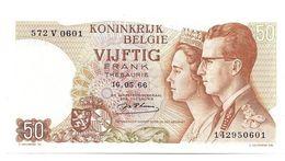 50 FR.  16.05.1966    UNC./FDC   N° 572 V 0601 - [ 6] Treasury