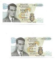 23  X 20 FR.  15.061964    UNC./FDC   N°s 3H 9442097 + 3N 9205078 - [ 6] Treasury
