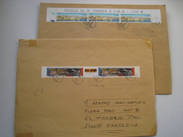 2 L Grand Format  1 Avec BANDE 2x N°2851 / 2852 Avec Vignette ..et 1 Avec 3X N°3489... En Premier Jour...... à Voir..... - 1961-....