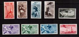 Italy-1934,(Mi.479-487) ,Football, Soccer, Fussball,calcio, MLH - Fußball-Weltmeisterschaft