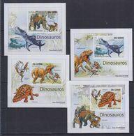 Q61. MNH S Tome E Principe Nature Animals Prehistoric Animals Imperf - Prehistorics