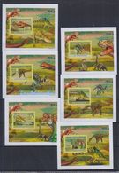 Q61. MNH Guinee Nature Animals Prehistoric Animals Imperf - Prehistorics