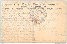 Cachet Hopital Temporaire N°9 CAEN Frappe TB  Cp De Caen - Marcophilie (Lettres)