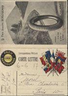 Guerre 14 Carte Lettre Drapeau Angleterre Belgique Serbie Japon Russie Italie Roumanie France Pub Pneu Bergougnan - Postmark Collection (Covers)