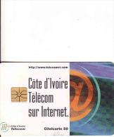 Côte D'Ivoire Télécom Sur Internet Card, Citelcarte 50 - Ivoorkust