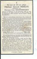 B.P. WILDEREN HERBOTS GERARD 1897 - 1947 ST. TRUIDEN - Religion & Esotericism