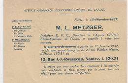 Cpa 44 Nantes Agence Générale Electronique  M L Metzger - Nantes