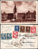 Romania - Romania-Iasi, Palatul Administrativ. Reg. Censored (Cenzurat Ploesti 1) Postcard, IASI 30.11.1945. - Roumanie