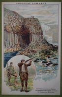 Chocolat LOMBART - Les Merveilles De La Nature - La Caverne De Fingal (Ecosse) - La Chasse Aux Mouettes - Publicidad