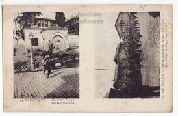 GREECE, SALONICA, TURKISH FOUNTAIN - 1916 LANDING OF WW1 RUSSIAN TROOPS Vintage Postcard - Greece