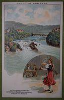 Chocolat LOMBART - Les Merveilles De La Nature - Les Chutes Du Rhin à Schaffouse (Allemagne) - Intérieur D'une Brasserie - Publicité