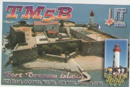 Qsl France - 81 Castres - Fort Brescou Island - Radio Amatoriale