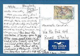 MALAYSIA ON CARD THAILAND - Malesia (1964-...)