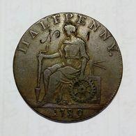 MACCLESFIELD - LIVERPOOL - CONGLETON (Cheshire ) - Half Penny Token ( 1789 ) Copper - Monetari/ Di Necessità