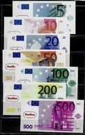 """HenBea"" School Money Set, 5 - 500 Euro,  POLYMER, Edukativ-Spielgeld, Training, 138 X 72 Mm, RRRRR, UNC - EURO"