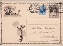 BELGIQUE 1931 ENTIER POSTAL CARTE ILLUSTREE DE ANVERS THEME NOEL - Stamped Stationery
