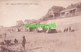 Vendée Saint Gilles Sur Vie La Plage éditeur R Bergevin N°4680 - Saint Gilles Croix De Vie