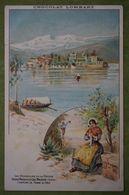 Chocolat LOMBART - Les Merveilles De La Nature - Isola Bella & Le Lac Majeur (Italie) - Costume De Femme Du Pays - Advertising