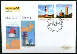 "First Day Cover Germany 2012 Mi.Nr.2942/43 Ersttagsbrief ""Leuchttürme-Borkum Und Kap Arkona""1 FDC - Leuchttürme"