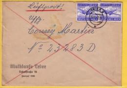 GERMANIA  REICH - 1943 - POSTA AEREA MILITARE - SU BUSTA   PER TRIER  VIAGGIATA 1943 - Allemagne