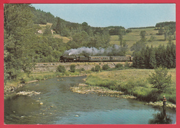 CP-15--TRAIN D'AMBERT  - LOCOMOTIVE 141r420  -Animation **-SUP** 2 SCANS - Stations With Trains