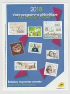 France : Programme Philatélique Des Timbres-Poste - 1 Er Semestre 2018 - - Documentos Del Correo