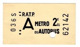 CARTE POSTALE FORME TICKET DE METRO RATP SERIE SHOPPING 31 DE 1970 - Métro
