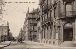 08 SEDAN  La Rue Thiers Et Le Pont De La Meuse - Sedan