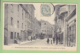 PONTCHARRA SUR TURDINE : Grande Rue, Près Place De La Mairie. 2 Scans. Edition B F - Pontcharra-sur-Turdine