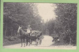 POULE LES ECHARMEAUX : Attelage Route De Propières . 2 Scans. Edition ? - France