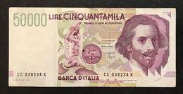 50000 Lire Bernini II° Tipo Serie C 1995   LOTTO 505 - [ 2] 1946-… : Republiek
