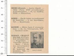 2 Scans Député Duc De Rohan-Chabot Ploërmel / Charles Pelletan / Pelisse (Hérault Lodève) 216PPF3D - Vieux Papiers
