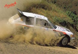 Peugeot 205 T16  -  Juha Kankkunen/J.Piironen -  Rallye Acropole  -  Carte Postale - Rallyes