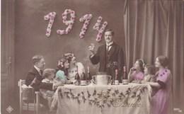 Happy New Year, Bonne Année Gelukkig Nieuwjaar 1914, Party Table, Des Fêtes, Famille, Family (pk43417) - Nouvel An